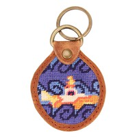 Beneath the Waves Needlepoint Key Fob by Parlour