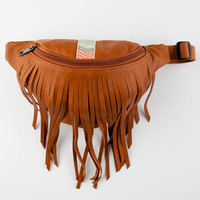 Fringe Fanny Pack Cognac One Size For Women 26334340901