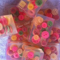 BUTTON SOAP ART soap Poppies scent Yes, the buttons are soap!