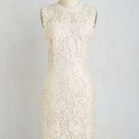 Mid-length Sleeveless Sheath Rehearsal Dinner Darling Dress in Ivory