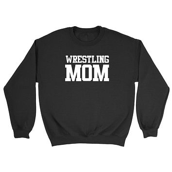 Wrestling mom,mom life, workout clothing, gym, fitness, yoga Crewneck Sweatshirt