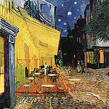 Sidewalk Cafe Poster by Van Gogh