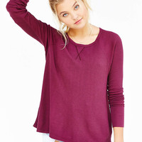 Truly Madly Deeply Wild Oats Thermal Top - Urban Outfitters