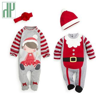 Christmas Baby girls clothes newborn pajamas baby boy winter snowsuit warm christmas romper jumpsuit santa claus baby costume