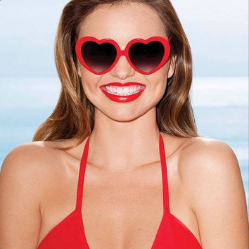 Celebrity Victoria Secret Miranda Kerr Novelty Heart Shape Sunglasses 8182