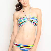 Multi Colored Bikini Set