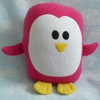Plush Magenta Penguin Pillow Pal