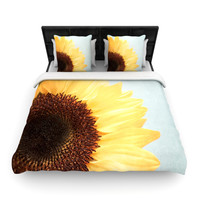 "Susannah Tucker ""Sunshine"" Sunflower Woven Duvet Cover"