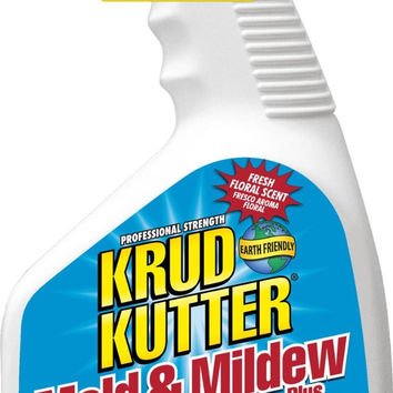 KRUD KUTTER MS32 Mold and Mildew Stain Remover Plus Blocker, 32-Ounce