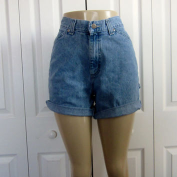 Vintage Cut Off Lee, High Waisted Denim Shorts, Carpenter Shorts, Womens 30 Waist Shorts, High Waist Shorts, Work Painter Cutoffs