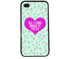 Pizza iPhone Case / Food iPhone 4 Case Love iPhone 5 Case iPhone 4S Case iPhone 5S Case Pattern Delicious Mint Cute Phone Case