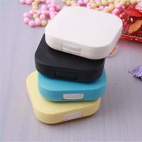 Mini Travel Shape Contact Lens Case Box Container Holder FINe