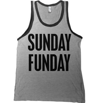 Sunday Funday Mens Tank Top - drinking t shirt beer funny  tshirt college bar tee day drinking party
