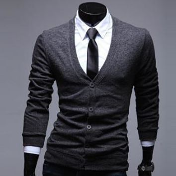 Mens Trendy Cardigan Sweater
