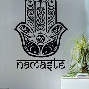 Namaste Hamsa Hand Version 3 Decal Sticker Wall Vinyl