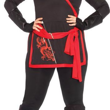 Ninja Assassin 4 Pc Black Costume for adult Men
