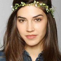 Delicate Flower Crown Headwrap- White One