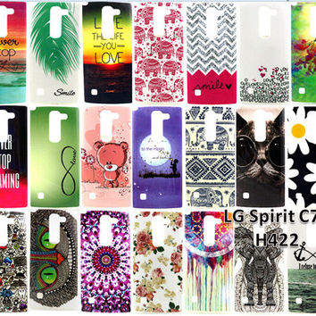 Case For LG Spirit 4G LTE H420 H422 H440N C70 Covers Cute Animal Owl Cat Bear Elephant Flower Soft TPU Back Covers Phone Case