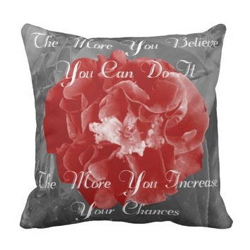 Chances Quote by Kat Worth Throw Pillow