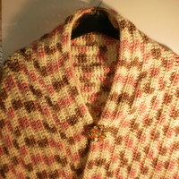 Crochet Winter Shawl/Wrap in Neopolitan