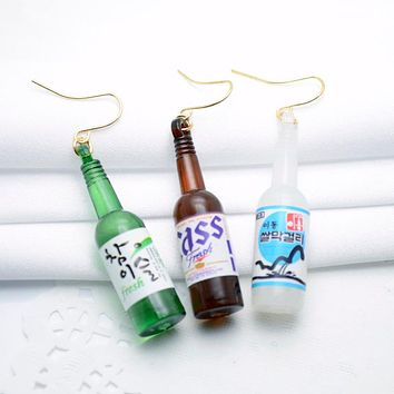 Korean Beer Bottle Earrings