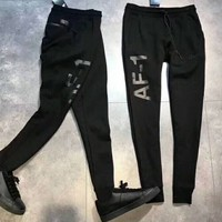 FILA Men Fashion Casual Sport Stretch Pants Trousers Sweatpants Black G-ZDL-STPFYF
