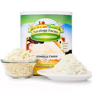 Saratoga Farms Freeze Dried Mozzarella Cheese, #10 Can, 1lb 12oz (794g), 99 Total Servings, Food Storage, Camping Food, Cooking, No Refrigeration Required, Every Day Use