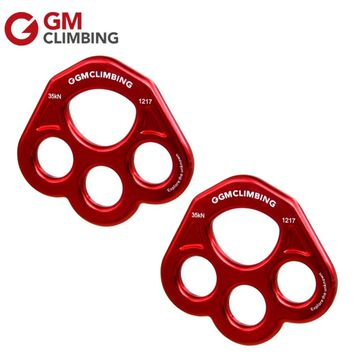 Rigging Plate 35kN Multiple Anchor Rope Rescue Bear Paw Rigging Plate for Rock Climbing Caving Mountaineering Equipment