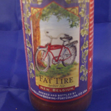 Fat Tire Beer Bottle 100% Soy Candle - Beer Scented