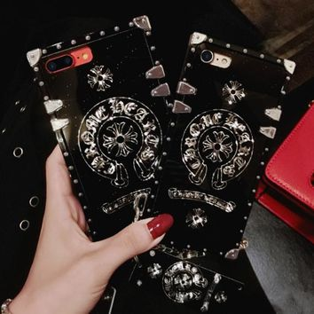 Chrome Hearts phone case shell  for iphone 6/6s,iphone 6p/6splus,iphone 7/8,iphone 7p/8plus, iphonex