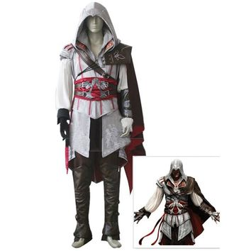 Halloween Costume Assassin's Creed II Cosplay Costume Assassins Creed Ezio Costume clothes sets