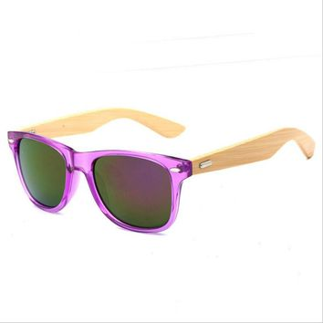 2018 adults outside sports ozzie fashionable wooden bamboo wood Sunglasses
