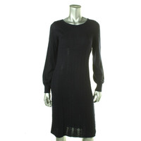Lauren Ralph Lauren Womens Wool Cable Knit Sweaterdress