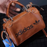 "Hot Sale ""Adidas"" Fashion Women Leather Tote Shoulder Bag Handbag Crossbody Satchel Brown I13075-1"