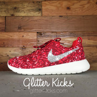 Nike Roshe One Customized by Glitter Kicks - ACTION RED/SAIL/TEAM RED