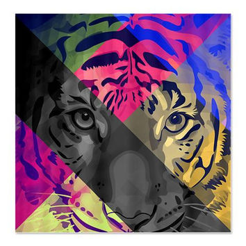 Tiger Shower Curtain - Wild Spirit #1 - Ornaart Design