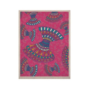 "Miranda Mol ""Tribal Fun Pink"" Magenta Abstract KESS Naturals Canvas (Frame not Included)"