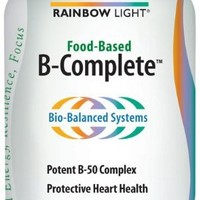 Rainbow Light B-Complete Food-Based Dietary Supplement Tablets, 90-Count Bottle (Pack of 2)