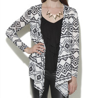 Tribal Printed Hacci Wrap | Shop Tops at Wet Seal