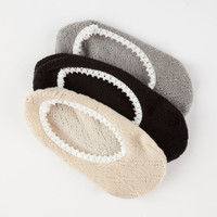 FULL TILT 3 Pairs Pointelle Womens Hidden Socks | Socks