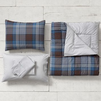 Ryder Plaid Value Comforter Set with Sheets, Pillowcase, Comforter + Sham