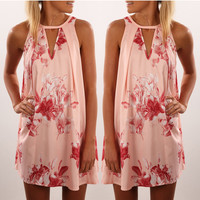 Women's Fashion Summer Hot Sale Print One Piece Dress [10206143495]