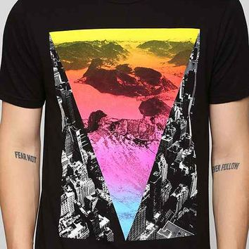 Mountain City Scape Tee- Black L