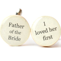 father of the bride cufflinks wood cuff links wedding eco friendly mens accessory gift for men