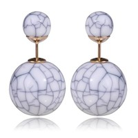 Gum Tee Tribal Earrings - Stone White