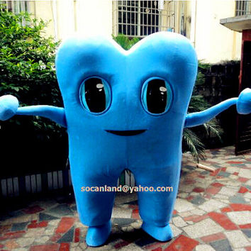 Tooth Mascot Costume,Cosplay Costumes,Costumes for Adults,Clothing,Mascot for the Dentist,Logo Mascot, DIY Tooth Mascot,Business Logo Mascot