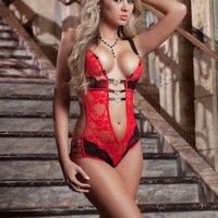 Tres Hearts Teddy Lingerie Set