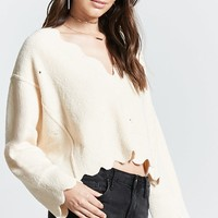 Contemporary Scalloped Sweater
