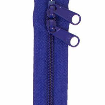 Handbag Zipper 30 inches Cobalt Blue Double Slide
