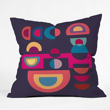 Viviana Gonzalez Geometric Colorplay 1 Throw Pillow